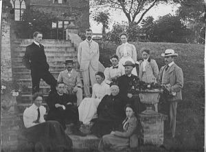 The Luard family on Birch Rectory Steps